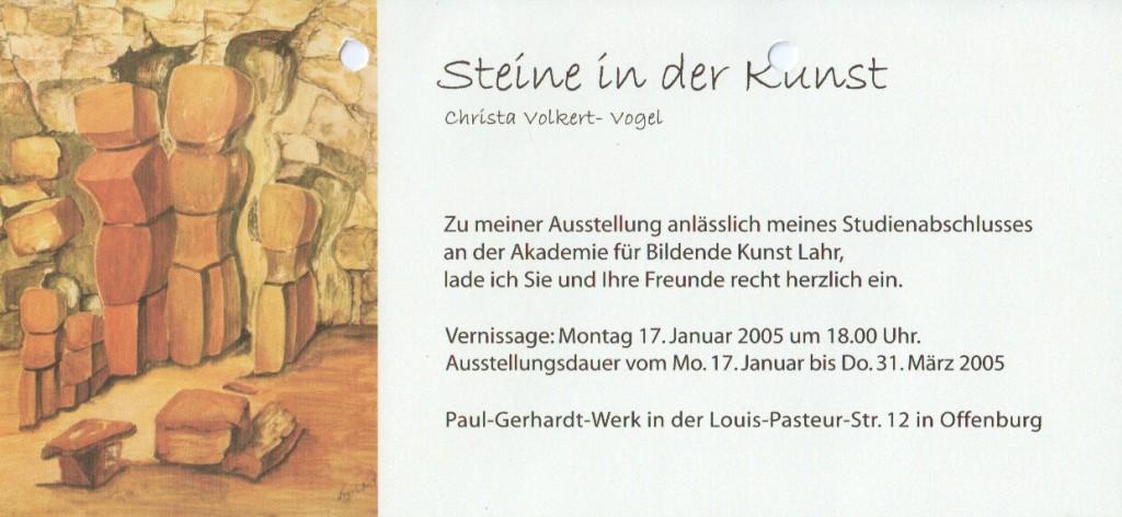 """Einladung zur Vernissage """"Steine in der Kunst"""""""