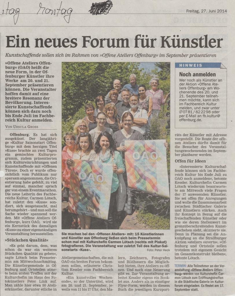 2014-Juni-27_OffenburgerTageblatt-OffenesAtelier_a