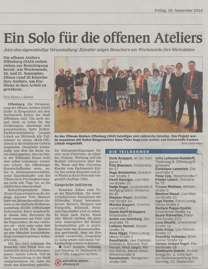2014-OffenburgerTageblatt-OffenesAtelier